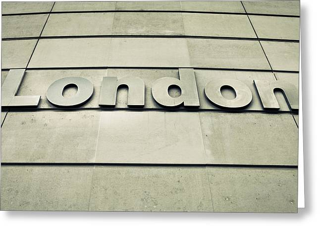 Capitalism Greeting Cards - London sign Greeting Card by Tom Gowanlock