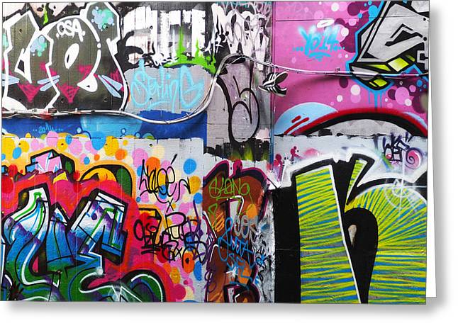 Graffiti Photographs Greeting Cards - London Skate Park Abstract Greeting Card by Rona Black