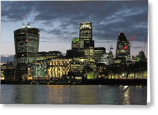Skyline Pyrography Greeting Cards - London Skyline Greeting Card by Gary Smith