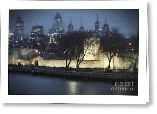 Historic Architecture Greeting Cards - London Skyline Greeting Card by Julie Woodhouse
