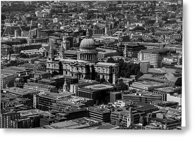 Sprawl Greeting Cards - London Skyline Greeting Card by Martin Newman