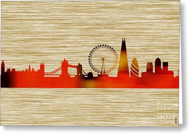 London Skyline Greeting Card by Marvin Blaine