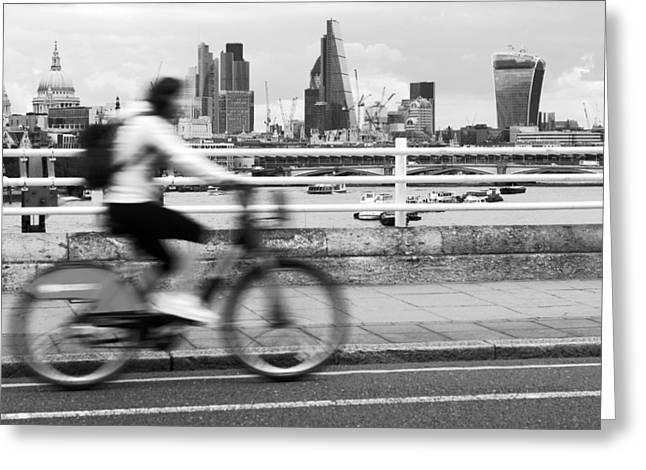 Hogan Bridge Greeting Cards - London Skyline - ref 7014 Greeting Card by Colin Hogan