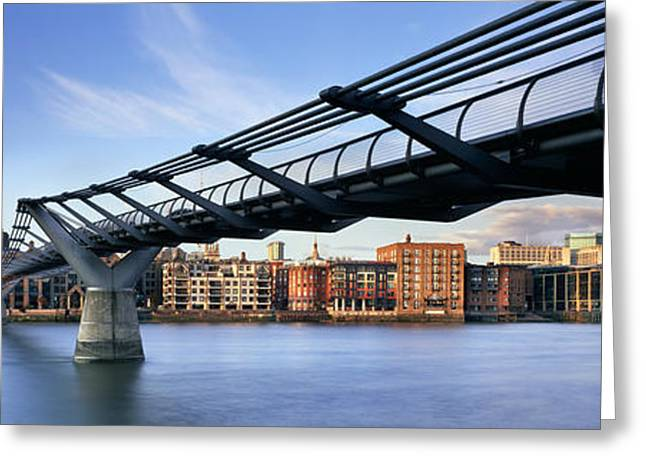 Domes Greeting Cards - Millennium Bridge London 1 Greeting Card by Rod McLean