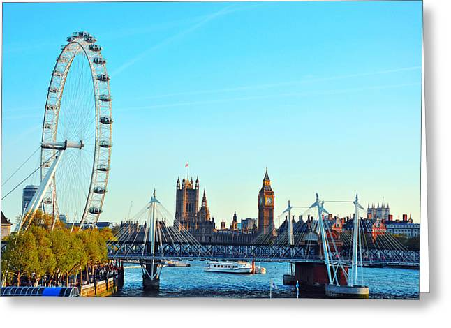 London Pyrography Greeting Cards - London Greeting Card by Steffen Schumann