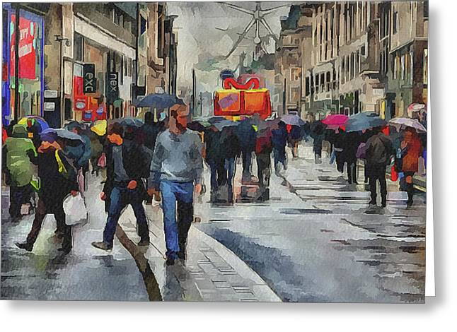 Old Town Digital Art Greeting Cards - London Streets 4 Greeting Card by Yury Malkov
