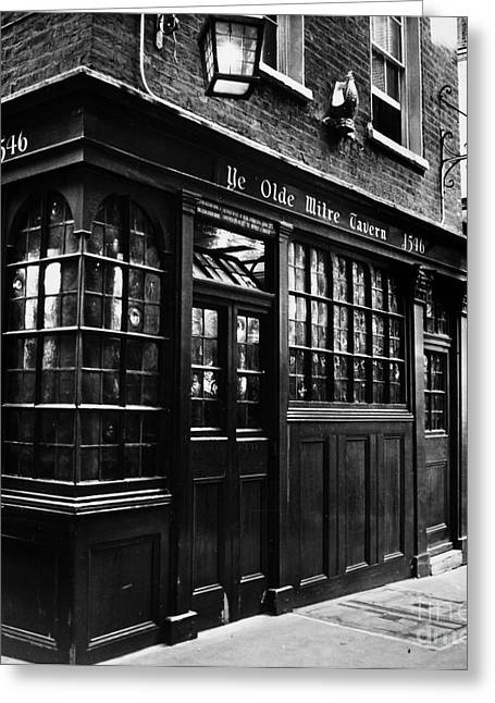 Old Inns Photographs Greeting Cards - London: Tavern Greeting Card by Granger