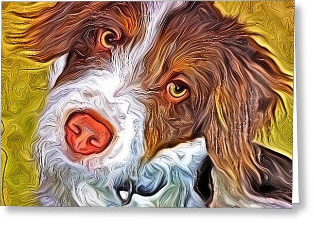 London The Dog Portrait Greeting Card by Artistinoz Jodie sims
