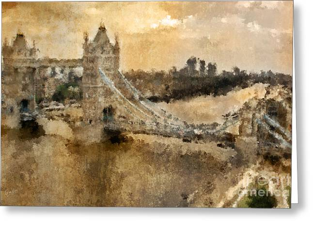 British Royalty Digital Greeting Cards - London Tower Bridge  Greeting Card by Garry West