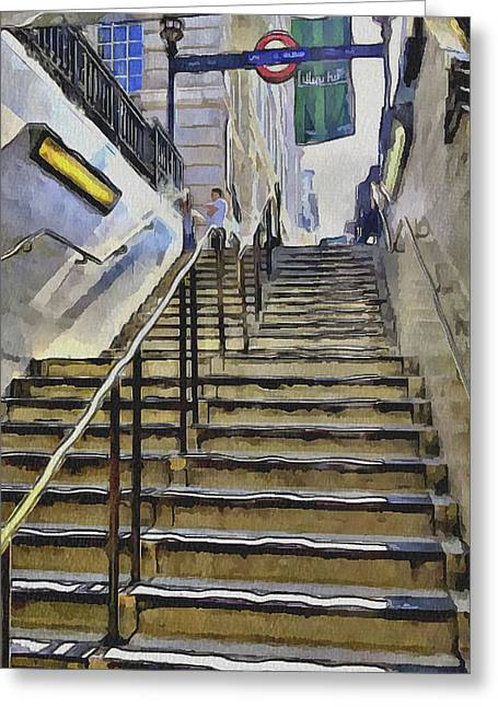 Old Town Digital Greeting Cards - London Underground 6 Greeting Card by Yury Malkov