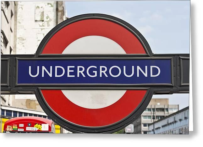 London Underground Greeting Card by Georgia Fowler
