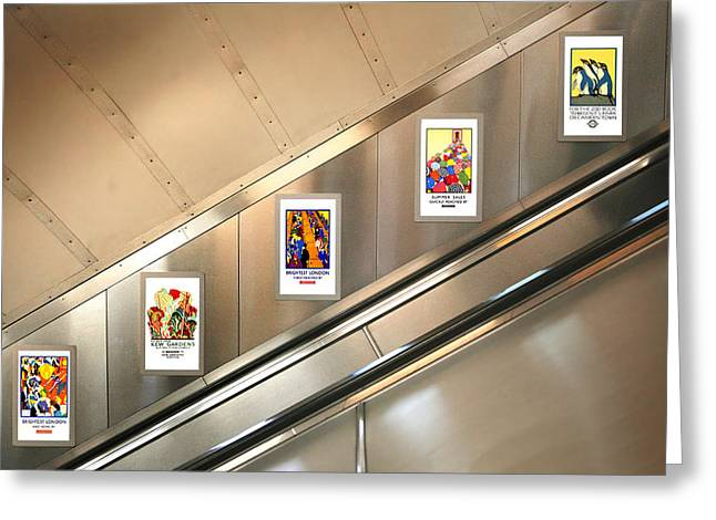 London Underground Poster Collection Greeting Card by Mark Rogan