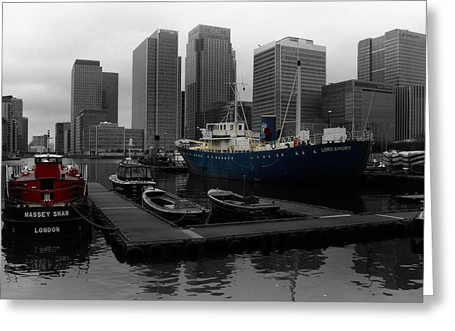 Pontoon Greeting Cards - Londons Docklands Greeting Card by Martin Newman