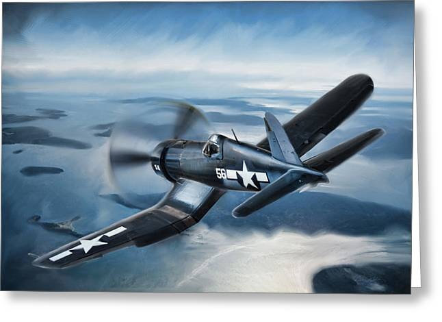 Vintage Aircraft Greeting Cards - Lone Black Sheep Greeting Card by Peter Chilelli