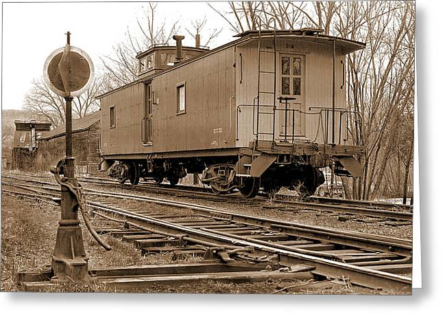 Mike Flynn Greeting Cards - Lone Caboose Greeting Card by Mike Flynn
