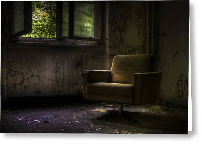 Creepy Digital Art Greeting Cards - Lone comfort Greeting Card by Nathan Wright