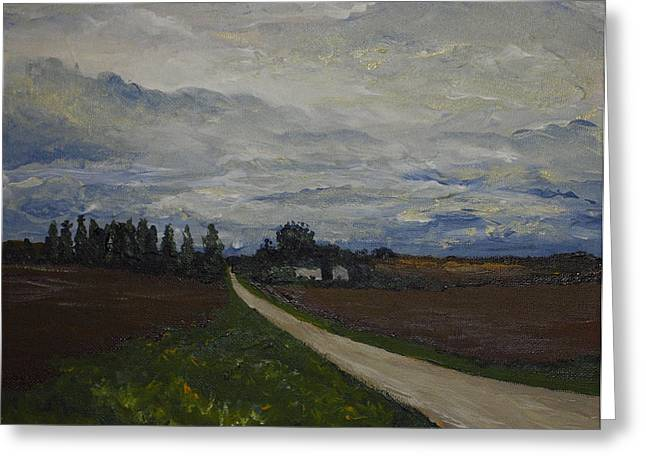 Monica Veraguth Greeting Cards - Lone Country Road Greeting Card by Monica Veraguth