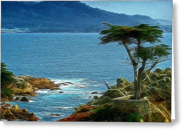 Lone Cyprus Digital Art Greeting Card by Ernie Echols
