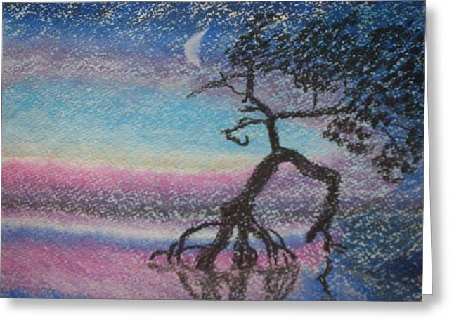 Tree Roots Pastels Greeting Cards - Lone Dancer by Moonlight  Greeting Card by Warren Thompson