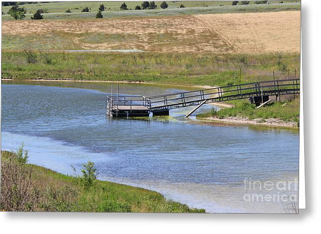 La Grange Greeting Cards - Lone Dock Greeting Card by Rod Andress