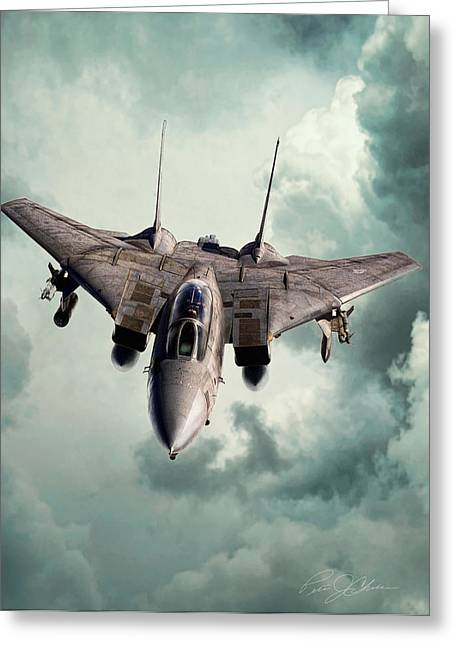 Desert Storm Greeting Cards - Lone Hunter Greeting Card by Peter Chilelli