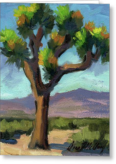 Park Scene Paintings Greeting Cards - Lone Joshua Tree Greeting Card by Diane McClary