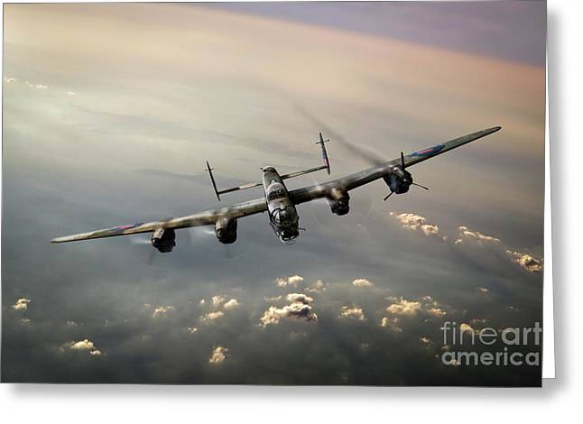 Lame Greeting Cards - Lone Lancaster Greeting Card by Gary Eason