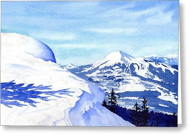 Snow Cornice Greeting Cards - Lone Mountain Greeting Card by Tammy Crawford