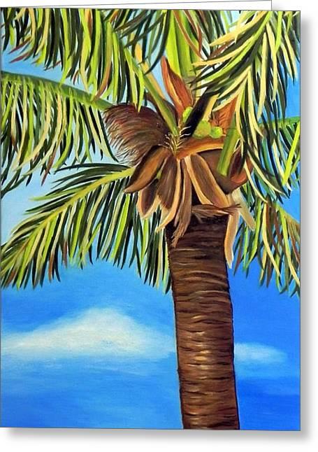 Lone Palm Greeting Card by Shelia Kempf