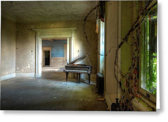 Lone Piano Greeting Card by Sheri Knauer