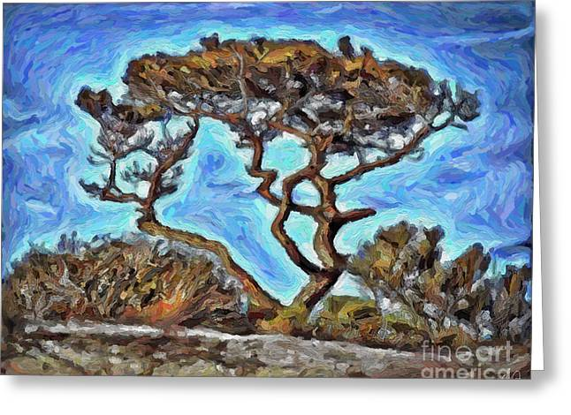 Sand Dunes Paintings Greeting Cards - Lone Pine 2 Greeting Card by Walt Foegelle