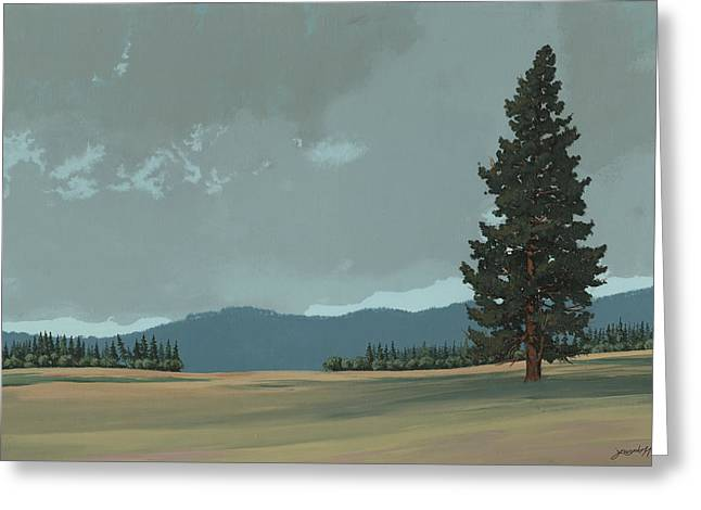 Montana Greeting Cards - Lone Pine Greeting Card by John Wyckoff