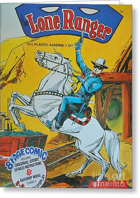 Cowboy Art Collector Greeting Cards - Lone Ranger Greeting Card by John Malone