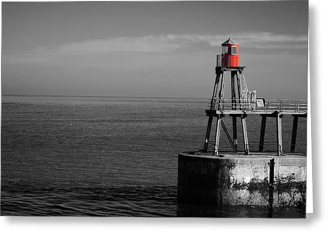 Whitby Greeting Cards - Lone Sentinel  Greeting Card by Mountain Dreams