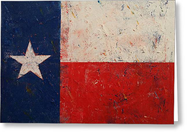 July 4th Paintings Greeting Cards - Lone Star Greeting Card by Michael Creese