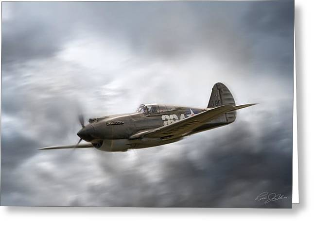 Warhawk Greeting Cards - Lone Survivor Greeting Card by Peter Chilelli