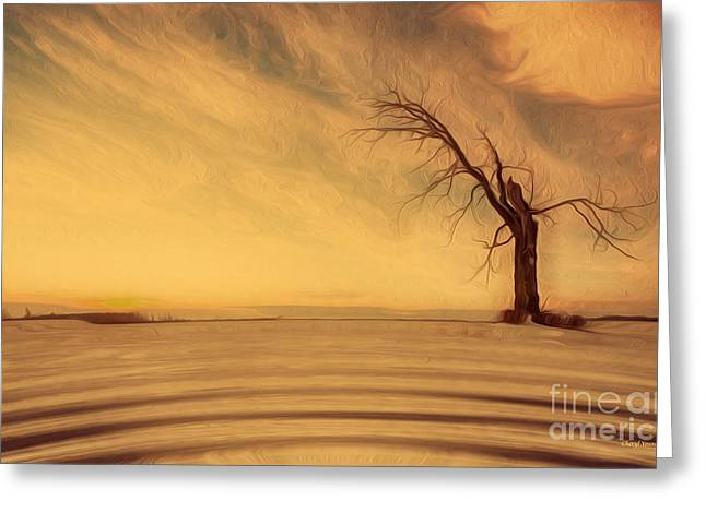 Reception Greeting Cards - Lone Tree Greeting Card by Cheryl Young