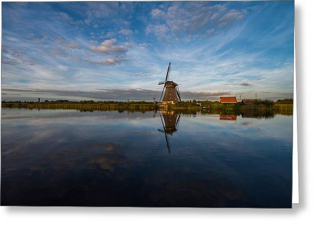 Netherlands Greeting Cards - Lone Windmill Greeting Card by Chad Dutson
