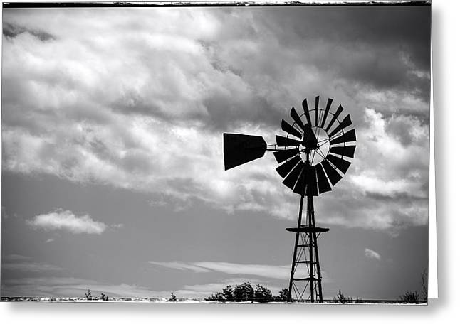 Farm Life Framed Prints Greeting Cards - Lone windmill on the prairie Greeting Card by John McArthur
