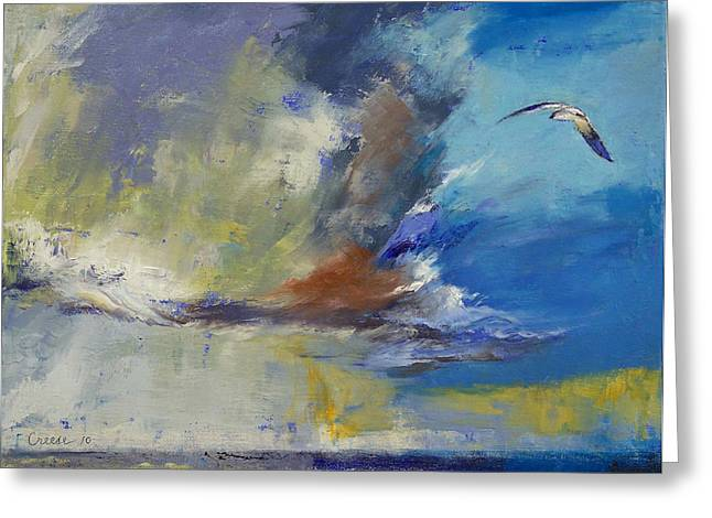 Gaviota Greeting Cards - Loneliness Greeting Card by Michael Creese