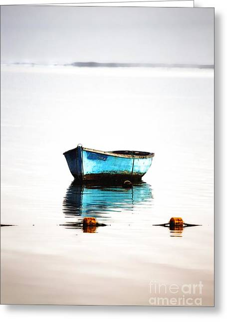 Beauty Mark Greeting Cards - Lonely Boat Greeting Card by Mark Ruti