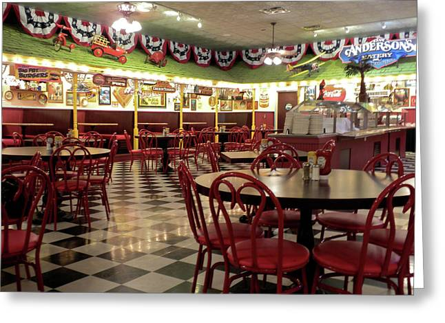 Lonely Cafe Greeting Card by Thomas Woolworth