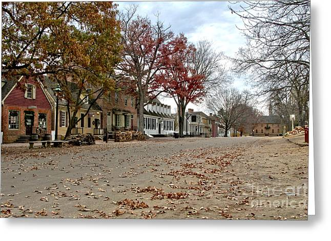 Empty Greeting Cards - Lonely Colonial Williamsburg Greeting Card by Olivier Le Queinec
