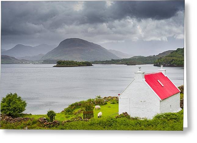 Torridon Greeting Cards - Lonely cottage Greeting Card by Maciej Markiewicz
