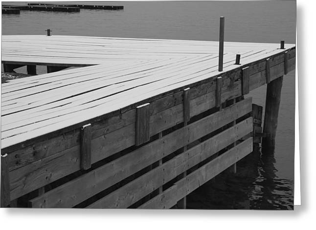 Ontario Greeting Cards - Lonely Dock Greeting Card by Merv Scoble