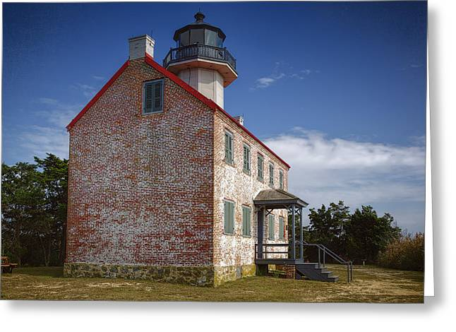 Aid To Navigation Greeting Cards - Lonely East Point Lighthouse Greeting Card by Joan Carroll