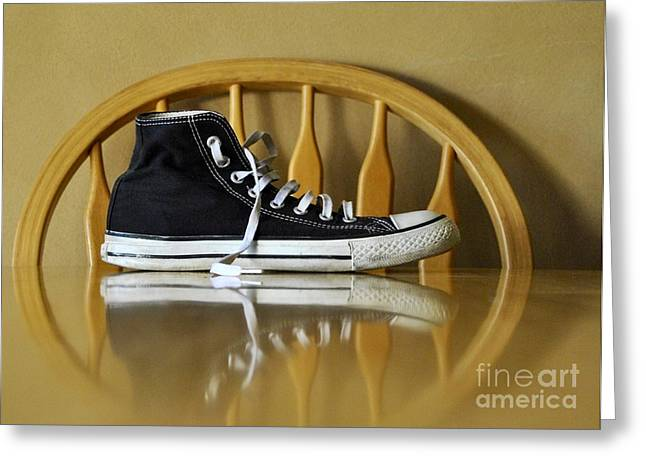 Conversing Digital Art Greeting Cards - Lonely feet 02 Greeting Card by Bobby Mandal