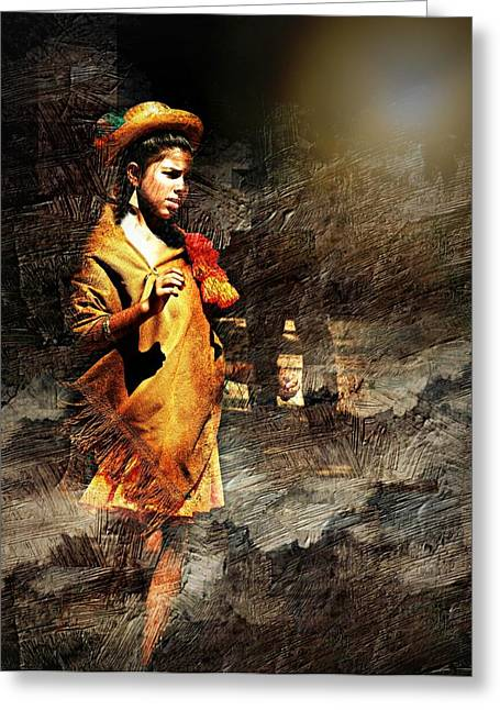 Long Ago Greeting Cards - Lonely Girl Greeting Card by Diana Angstadt