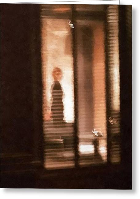 Venetian Blinds Greeting Cards - Lonely Greeting Card by Gun Legler