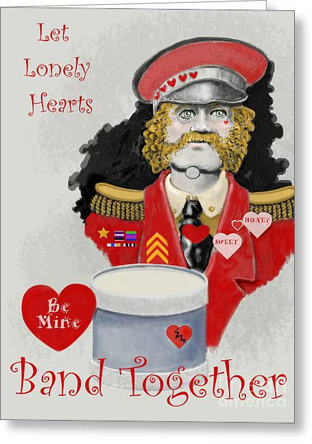 Lonely Hearts Club Band Greeting Cards - Lonely Hearts Greeting Card by Carol Jacobs